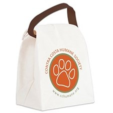 CCHS paw round logo with web site Canvas Lunch Bag