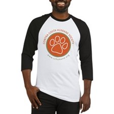 CCHS paw round logo with web site Baseball Jersey