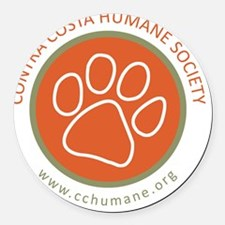 CCHS paw round logo with web site Round Car Magnet