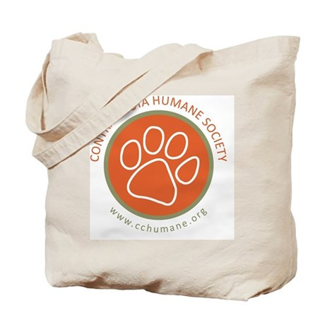 CCHS paw round logo with web site Tote Bag