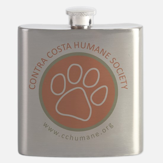 CCHS paw round logo with web site Flask