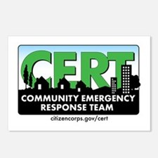 CERT Logo-CAr Magnet Postcards (Package of 8)