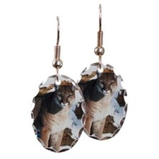 Cougar standing outdoors Earring