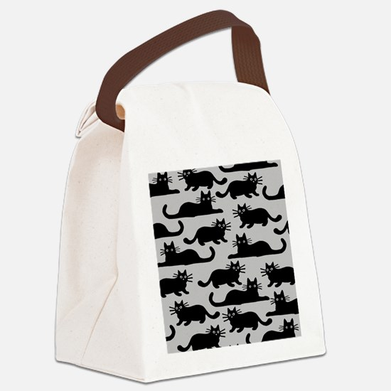 catspattern Canvas Lunch Bag