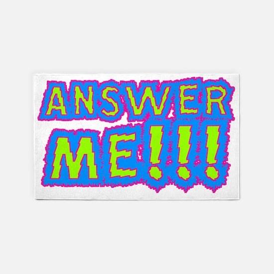 Answer Me!!! 3'x5' Area Rug