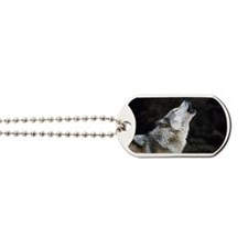 Howling timber wolf Dog Tags