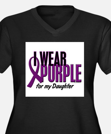 I Wear Purple For My Daughter 10 Plus Size T-Shirt