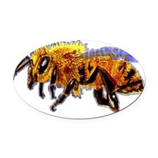 loneHoneyBeeNew3 Oval Car Magnet