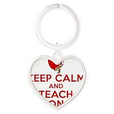 Brandy Teach On Heart Keychain