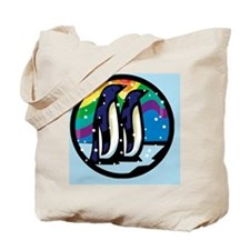 Rainbow Penguin Tote Bag