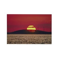 Sunset over ocean , Florida Rectangle Magnet