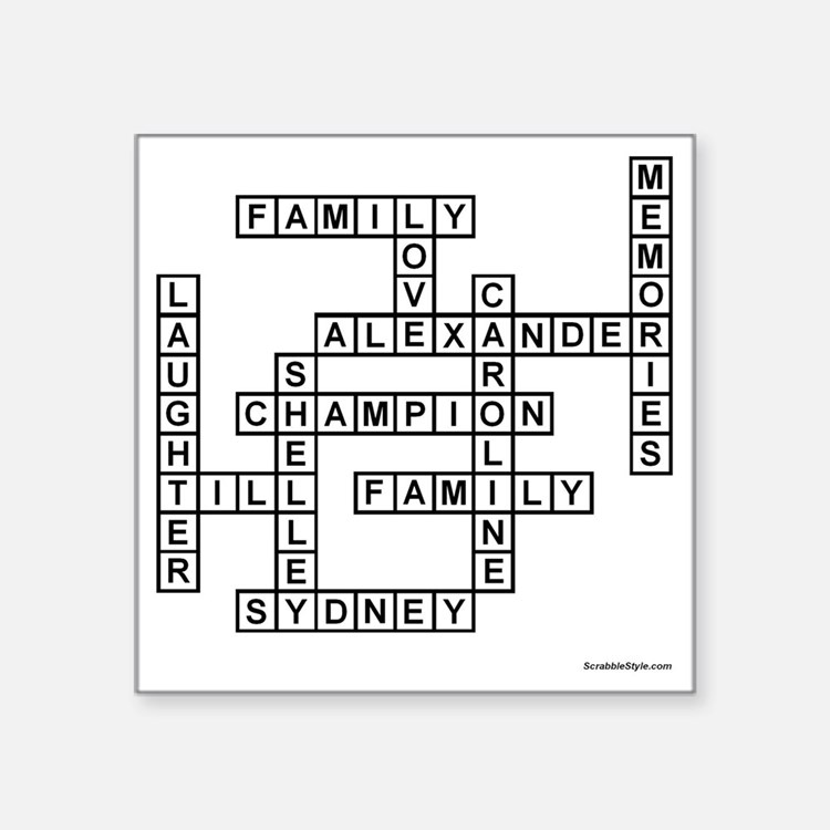 "SORENSEN SCRABBLE-STYLE Square Sticker 3"" x 3"""