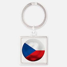 Czech Republic Square Keychain