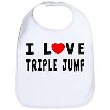 I Love Triple Jump Bib