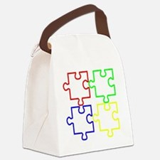 Autism LargeII Canvas Lunch Bag