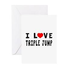 I Love Triple Jump Greeting Card