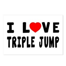 I Love Triple Jump Postcards (Package of 8)