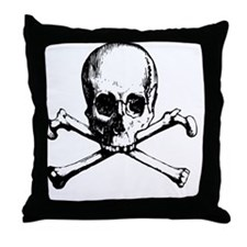 Skull And Crossbone Throw Pillow