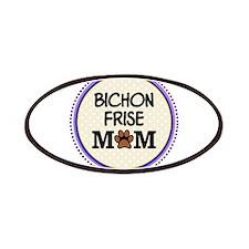 Bichon Frise Dog Mom Patches