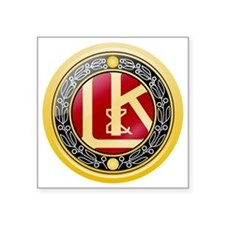 """Laurin  Klement Square Sticker 3"""" x 3"""""""