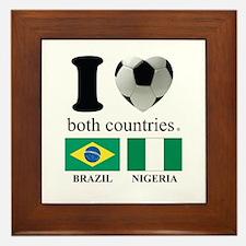 BRAZIL-NIGERIA Framed Tile
