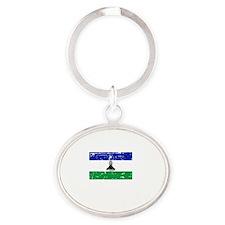 LESOTHO1 Oval Keychain