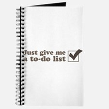 Just give me a to-do list Journal