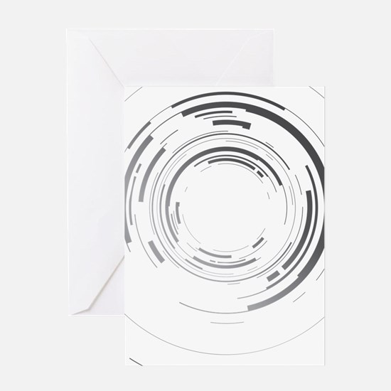 Abstract lens Greeting Card