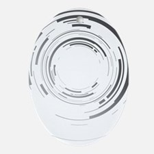 Abstract lens Oval Ornament
