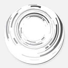 Abstract lens Round Car Magnet