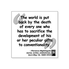 "Nightingale Quote Square Sticker 3"" x 3"""
