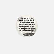 Nightingale Quote Mini Button