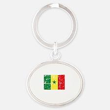 SENEGAL1 Oval Keychain
