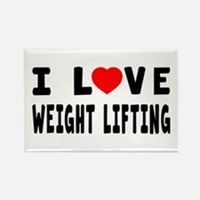 I Love Weight Lifting Rectangle Magnet