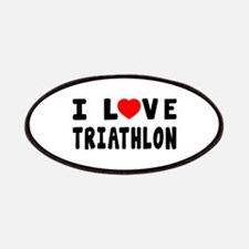 I Love Triathlon Patches