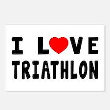 I Love Triathlon Postcards (Package of 8)