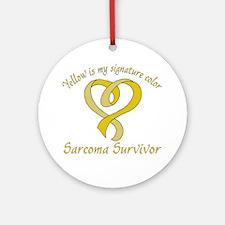 Sarcoma Signature Color Round Ornament
