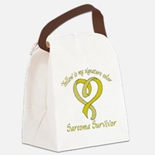 Sarcoma Signature Color Canvas Lunch Bag