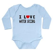 I Love Water Skiing Long Sleeve Infant Bodysuit