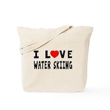 I Love Water Skiing Tote Bag