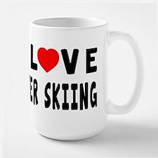 I Love Water Skiing Large Mug
