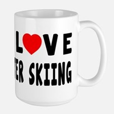 I Love Water Skiing Mug