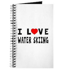 I Love Water Skiing Journal