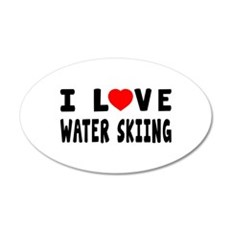 I Love Water Skiing Wall Decal