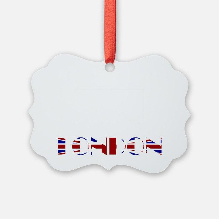 London Tower Bridge Union Jack Ornament