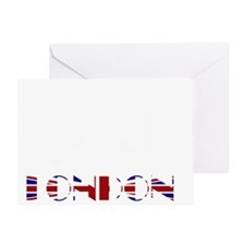 London Tower Bridge Union Jack Greeting Card