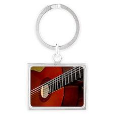 Classic Guitar Landscape Keychain