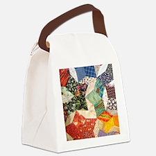 Colorful Patchwork Quilt Canvas Lunch Bag