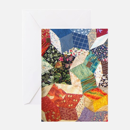 Colorful Patchwork Quilt Greeting Card