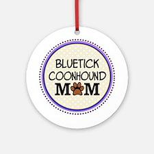 Bluetick Coonhound Dog Mom Ornament (Round)